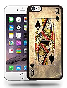 Vintage Playing Cards Queen of Spades Phone Case Cover Designs for iPhone 6