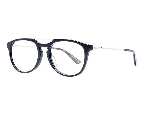 Luxus Modestil neue Liste Gucci Brille (GG-0411-OA 002) Acetate Kunststoff - Metall schwarz ...