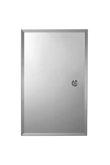 hot sale online 51a1d 2e0d3 Croydex Trent Stainless Steel Lockable Medicine Cabinet