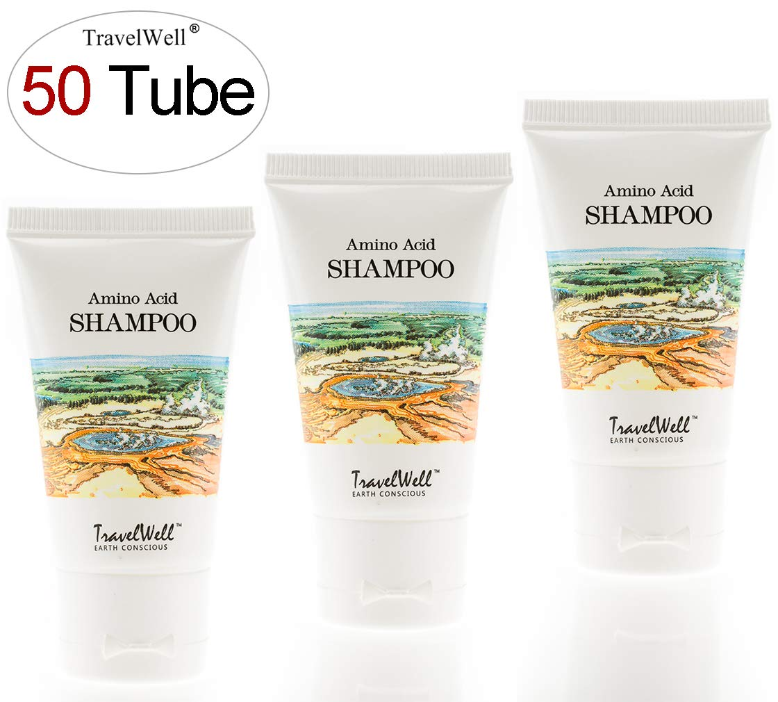 TRAVELWELL Landscape Series Hotel Toiletries Amenities Travel Size Guest Shampoo 1.0 Fl Oz/30ml, Individually Wrapped 50 Tubes per Box