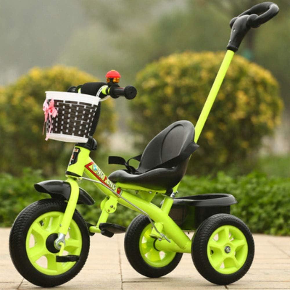 LMYG Triciclo para Niños, Carrito De Tres Ruedas Dos En Uno, Bicicleta para Bebés Masculinos Y Femeninos, Carrito Multifunción, Carrito Ajustable De Tres Ruedas, Adecuado para 6 Meses +