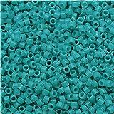 Miyuki Duracoat Delica, Japanese 11/0 Seed Beads, 7.2g Tube, Opaque Underwater Blue DB2130