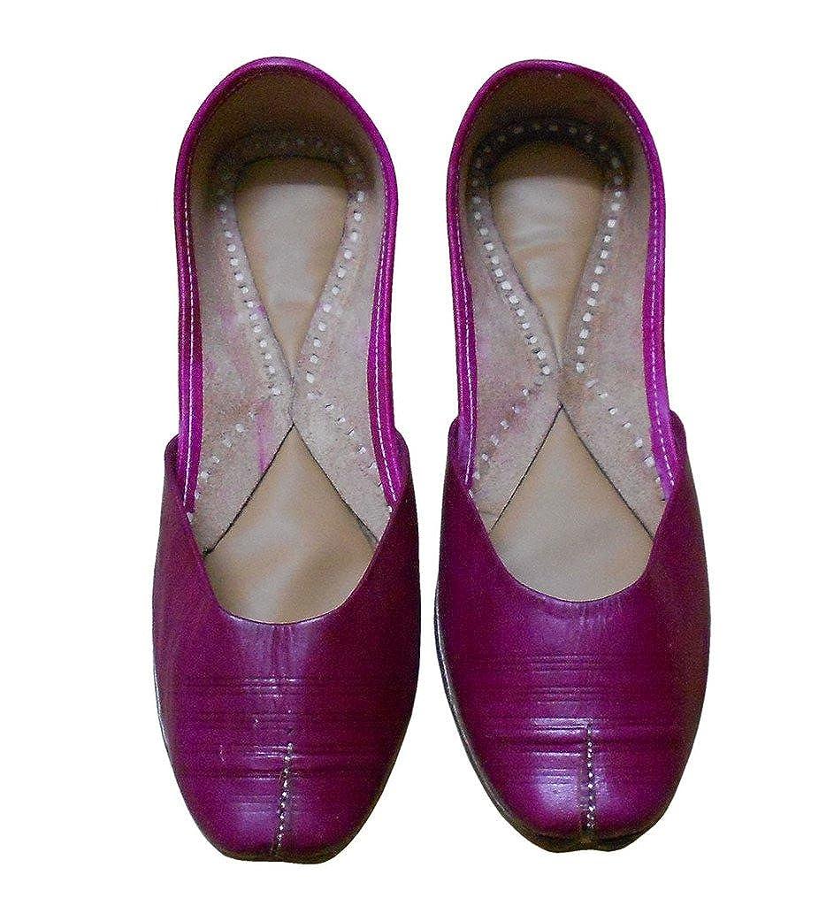 kalra Creations Mujer Tradicional Indio Zapatos Mocasines Piel Pisos: Amazon.es: Zapatos y complementos