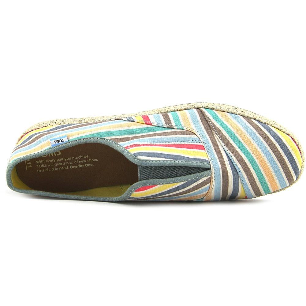 2b4316e74d7 TOMS Beach Stripe Womens Palmeras Multi Canvas Shoes  Amazon.co.uk  Shoes    Bags