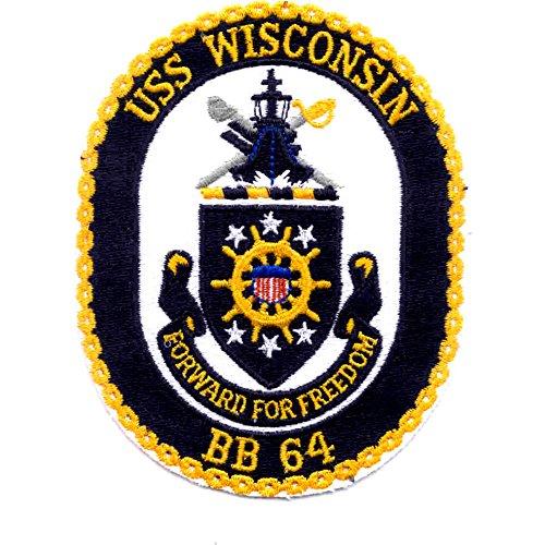 - USS Wisconsin BB-64 Battleship Ship Patch