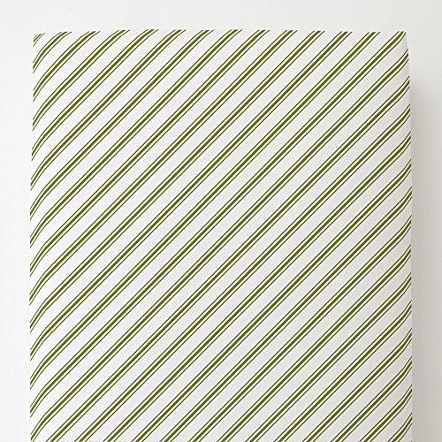 Neckties Sage - Carousel Designs Sage Necktie Stripe Toddler Bed Sheet Fitted