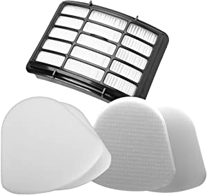 Powerextra 5 Pack Replacement Filters for Shark Navigator Lift-Away NV350, NV351, NV352, NV355, NV360, NV370, UV440, UV490, UV540 Vacuum- XFF350 XHF350