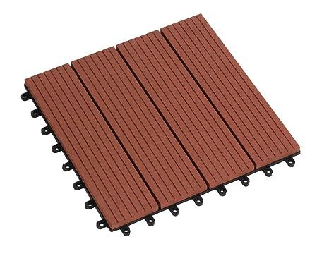 Tdock wpc terrazza piastrelle mattonelle di pavimento cm