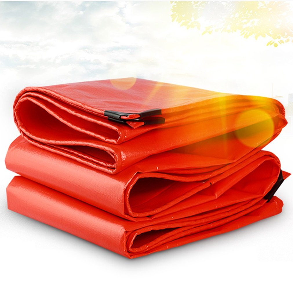 HF ターポリンレインクロス防水日除け超軽量リノリウムアンチ酸耐腐食性無臭三輪車0.38ミリメートル厚い210g/m2& (色 : Orange, サイズ さいず : 6x8m) B07FKVDVD5 6x8m|Orange Orange 6x8m