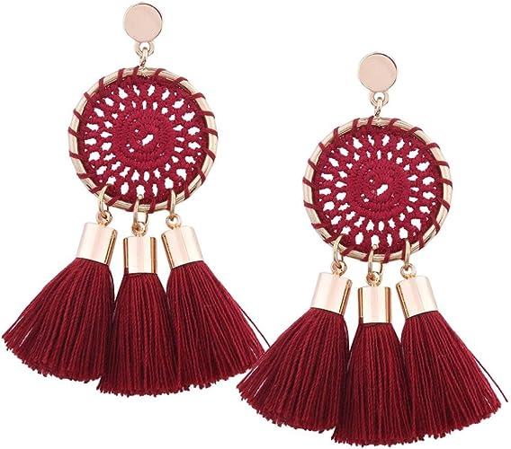 Womens Earrings ManxiVoo Rhinestone Geometric Triangle Long Dangle Drop Ear Stud Earrings for Girls
