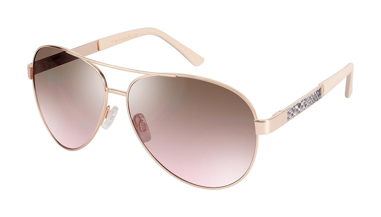 494140de227 Elie Tahari Women's Th527 Rgld Aviator Sunglasses, Rose Gold, 58 mm ...
