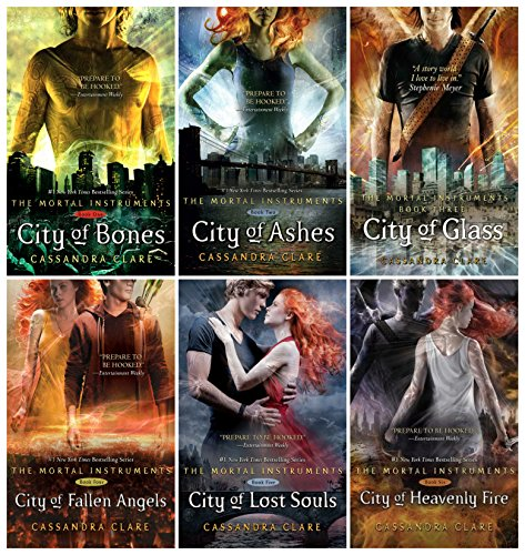The Mortal Instruments Hardcover 6 Book Set: City of Bones, Ashes, Glass, Fallen Angels, Lost Souls, Heavenly Fire