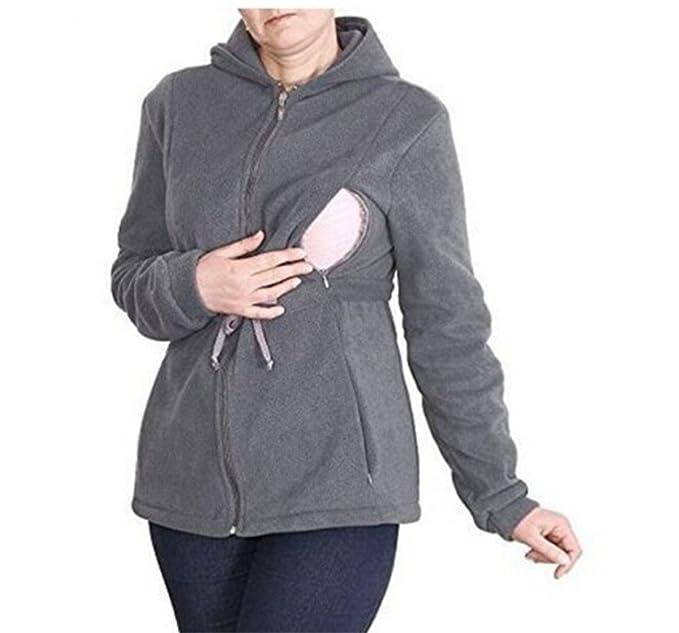 CRAVOG Jersey polar con capucha con bebé tirantes para ropa premamá, Maternidad oberbekleidung Embarazo Tuerca