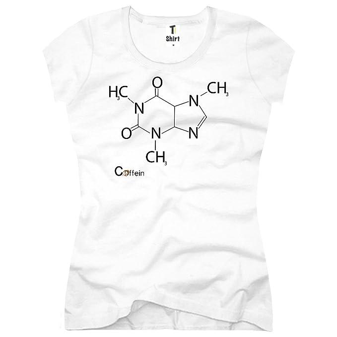 TEE-Shirt Camiseta para Mujer Cafeína Química Diseño: Amazon.es: Ropa y accesorios