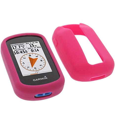 foto-kontor Funda para Garmin eTrex Touch 25 eTrex Touch 35 Protectora Silicona Carcasa protección Rosa