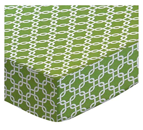SheetWorld Extra Deep Fitted Portable Mini Crib Sheet - Citrus Links - Made In USA by SHEETWORLD.COM