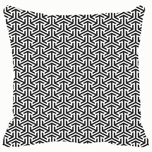 Black White Clip Art Home Decorative Throw Pillow Case Cushion Cover for Gift Home Couch Bed Car 18