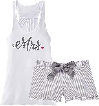 Classy Bride Mrs. Seersucker Pajama Set