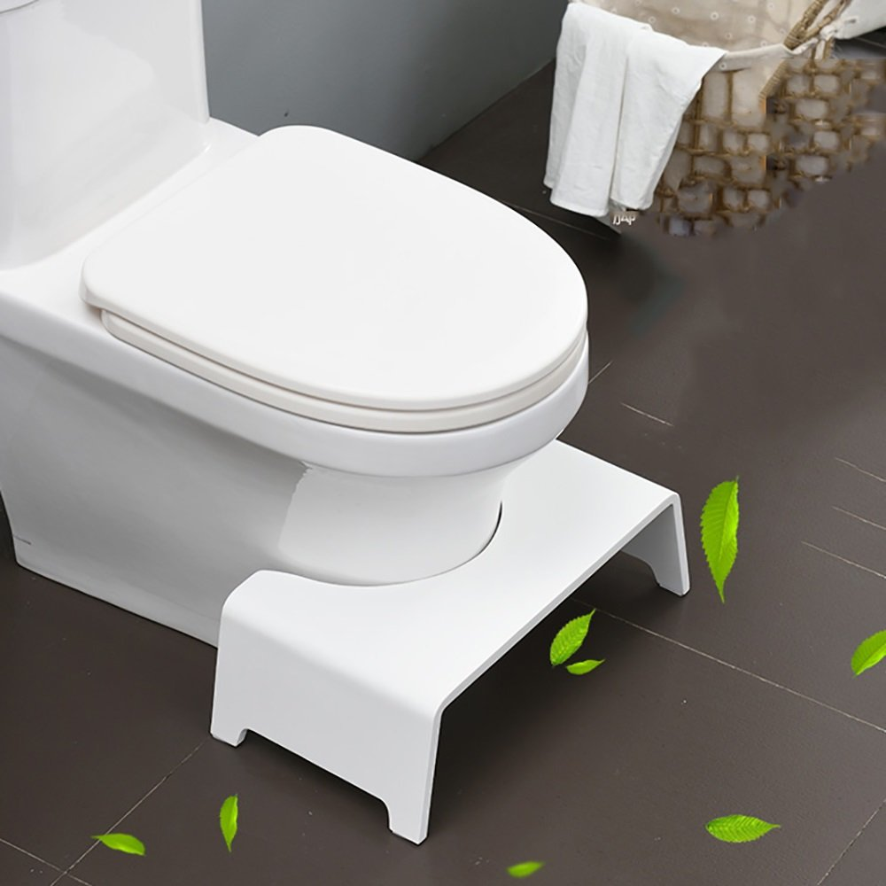 Bathroom stool solid wood children's multi-function toilet stool bathroom anti-slip stool increase thickening stool stool adult toilet stool home waterproof footrest wood color white 45 26 16cm