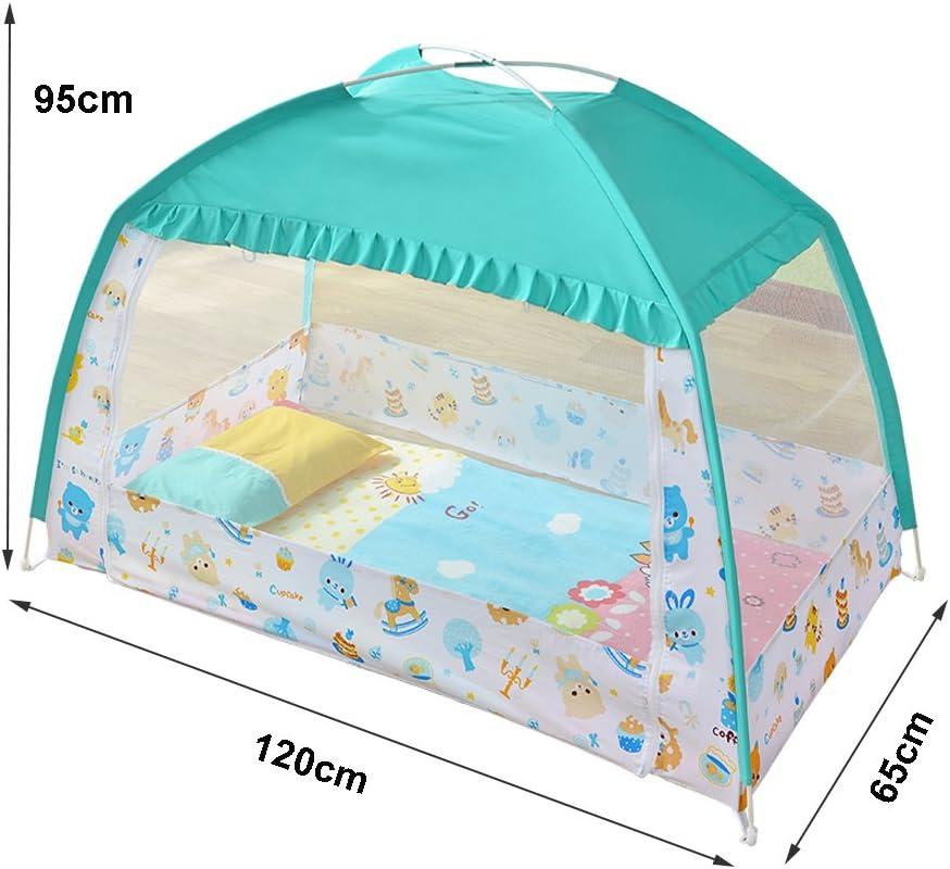 Moustiquaire ciel de lit Guard Tente Pour enfant Moustiquaire Yurts Manquait pliable Lit B/éb/é Enfants Tente installation sans Lit Fermeture /Éclair anti Mosquito Bites