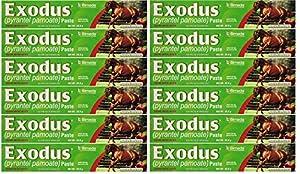 BIMEDA Pyrantel Paste Horse 23.6g wormer Equine Parasite Exodus (Pamoate Strongid) OTC 12 Pack