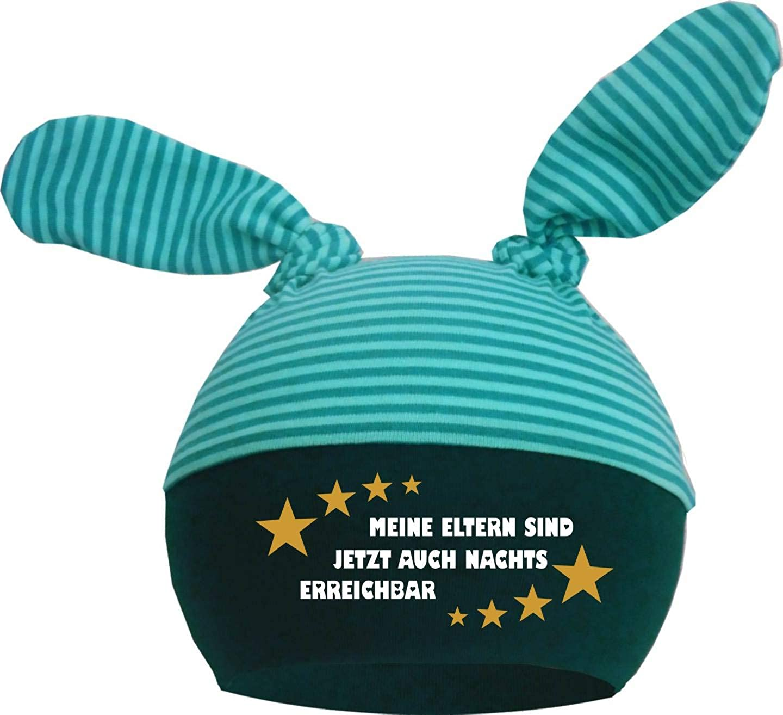KLEINER FRATZ 2-Zipfel Baby M/ütze Kinder Jungen M/ädchen Babym/ütze Hat Meine Eltern sind jetzt auch nachts erreichbar
