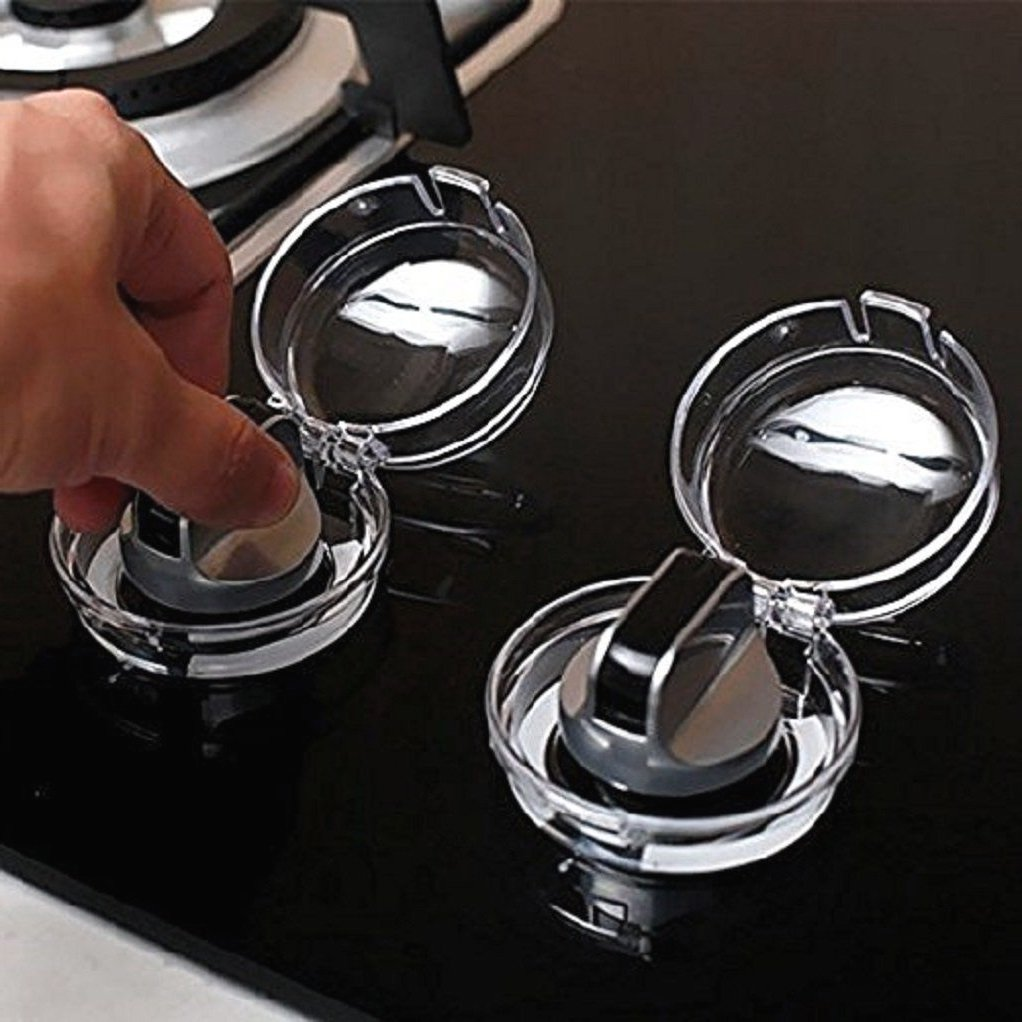 Hotreasure Child safety Clear View Stove Knob Covers, 2pcs