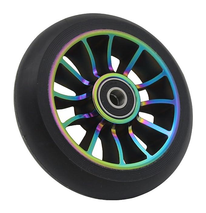 aibiku Pro Stunt Scooter Wheel 100mm Replacement Wheels with ABEC-11 Bearing-2 PCS