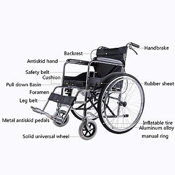Silla de ruedas Aluminio, Plegables Ligeras, Autopropulsada ...
