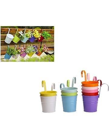 Dipamkar® Set de 10 macetas de Colores,maceta de flores colgando. Colgante macetas