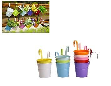 Lot De 10 Suspendu Fleur Pot,pots De Fleurs à Suspendre Pour Balcon, Jardin