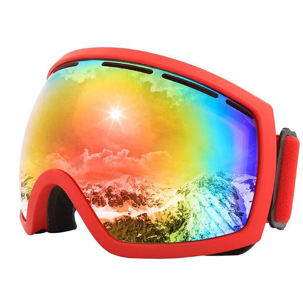 ANLW Esquí Gafas de Sol Hombres Mujeres Doble Anti-Niebla ...