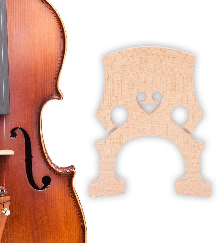 Pack of 2 Wood Color 4//4 Cello Bridge,4//4 3//4 Cello Maple Bridge Maple Wood Self-Adjusting Fitted Bridge Musical Instrument Replacement Accessory
