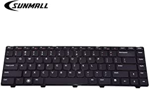 SUNMALL Keyboard Replacement with Black Frame Compatible with Dell Vostro 1540 1550 2520 3330 3350 3450 3460 3550 3555 3560 1440 1445 1450 1550.XPS L502X