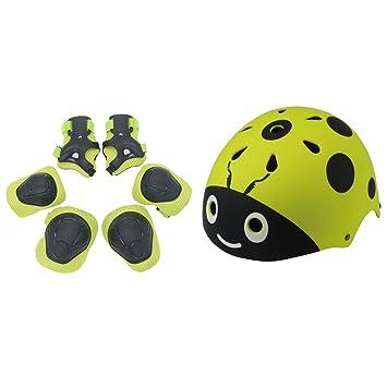Yakok - Juego de casco para niños, 7 piezas, diseño de ...