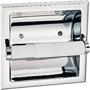 Design House 533125 Millbridge Bath Accessories Recessed Toilet Paper Holder Polished Chrome Amazon Com