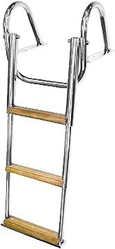 Escalera Telescópica Escalera 3 Peldaños, 82 cm, Acero Inoxidable, 170 mm, Diseño de Barca Gommone: Amazon.es: Deportes y aire libre