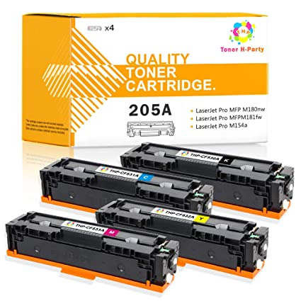 Tóner H-Party 4 Unidades compatibles para HP 205A CF530A CF531A ...