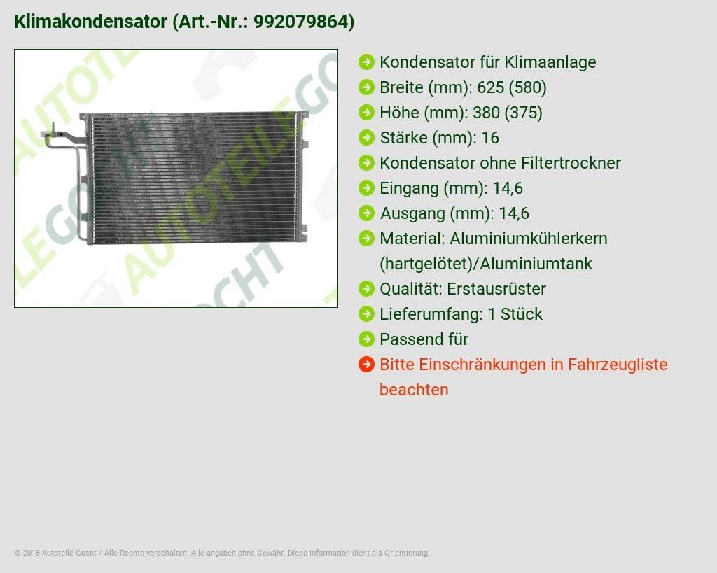 Condensateur Climatisation Volvo c30 c70 II s40 II v50