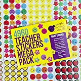 Purple Ladybug Novelty Teacher Stickers for Kids Mega Pack