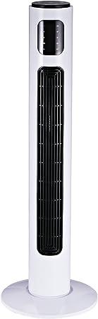 HomCom Torre Ventilador de Pie con Control Remoto y Movimiento ...