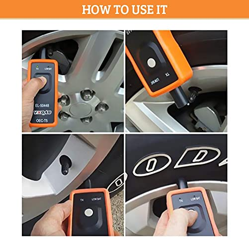 EL-50448 tpms reset tool can help you reprogram all tires much easier just with 3 steps.