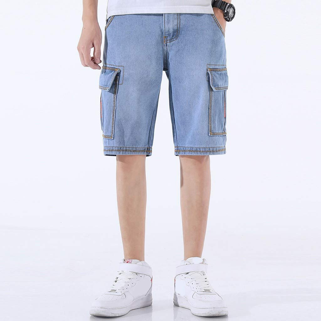 NREALY Pantalones Cortos Mens Summer Fashion Fittings Shorts Fashion Comfortable Shorts