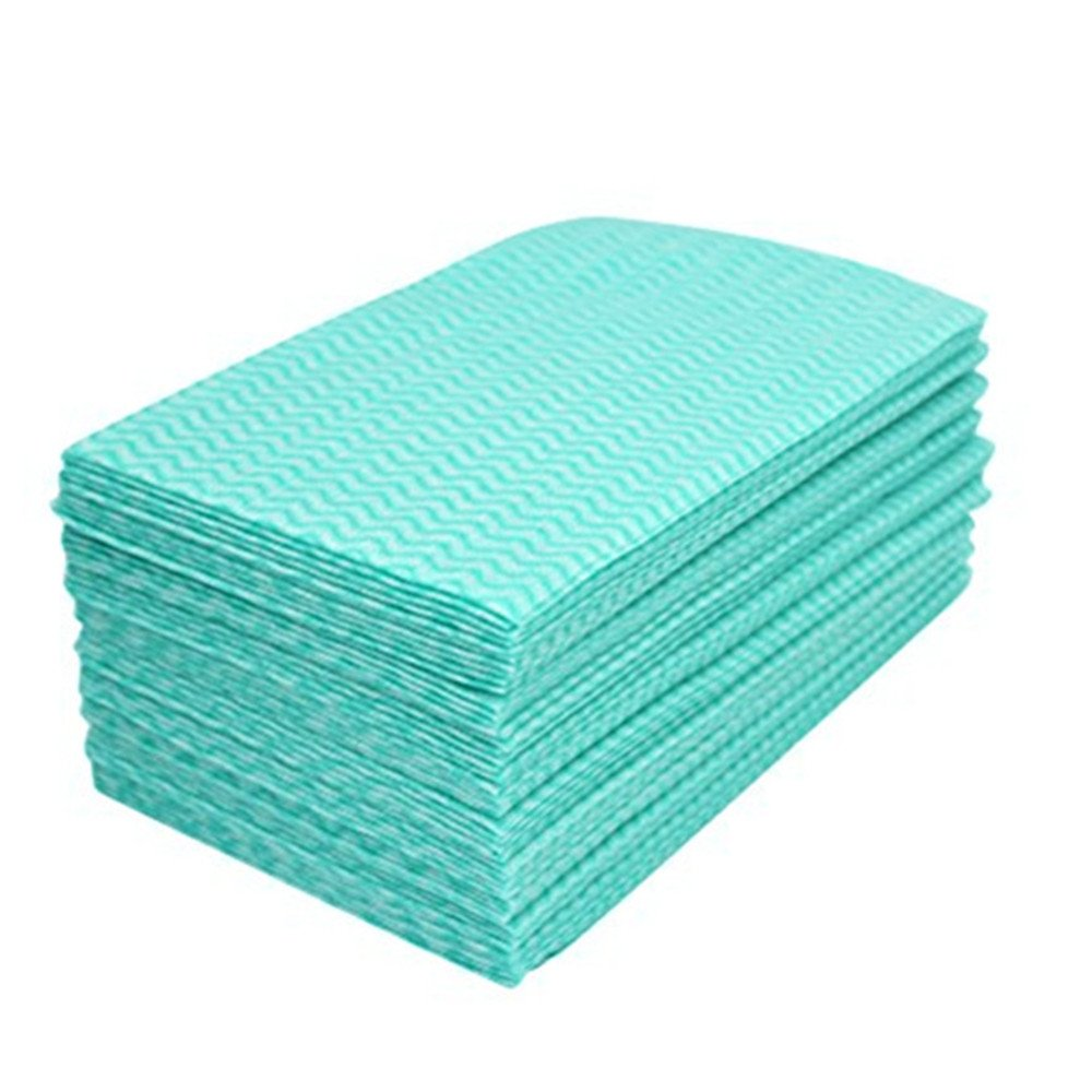 Jebblas Disposable Dish Cloth Dish Towels and Reusable Cleaning Towels, Handy Cleaning Wipes,Handi Wipe 50Sheets/Pack,Green by Jebblas