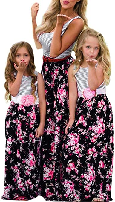 CANDLLY Mamá y Hijas Vestidos de Fiesta Princesa Playa Vestidos de ...
