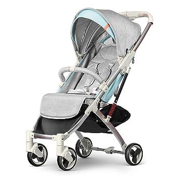 GKBMSP Carrito de bebé Cochecito Plegable Rueda Delantera giratoria 360 ° Un Doble botón de Freno