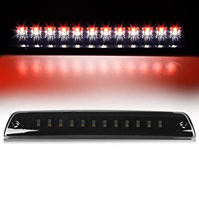 AUTOSAVER88 LED 3rd Third Brake Light Compatible with Dodge Ram 1994-2001 Cargo Lamp High Mount Stop Light Smoke: Automotive