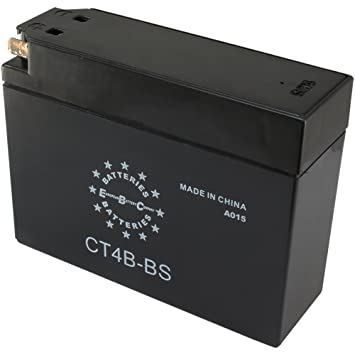 Amazon.com: EBC ct4bbs 12 V 2.5 Ah 30 CCA Batería para moto ...