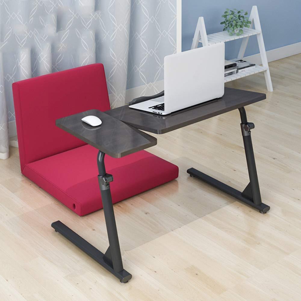 ZXQZ zhuozi Bedside Breakfast Table, Lazy Table Foldable Laptop Desktop Game Table Coffee Magazine Table Folding Computer Desk (Color : Black, Size : 804050-76)