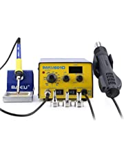 BAKU BK-601D Multi-Function Digital Display Brushless Rework Soldering Station, 110V Hot Air Lead-Free Soldering Station (BK-601D)